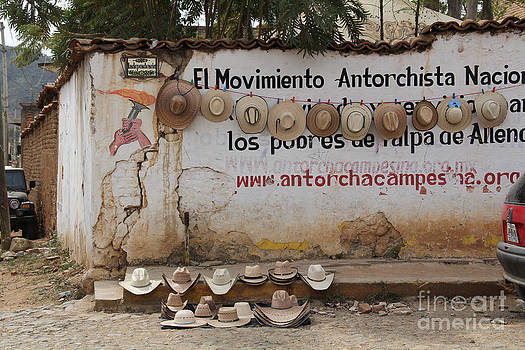 Cowboy Hats in Talpa Mexico by Linda Queally