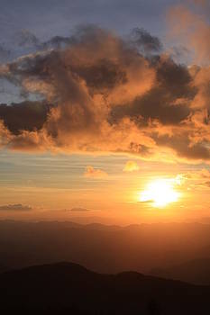 Cowee Mountains Sunset - Blue Ridge Parkway by Mountains to the Sea Photo