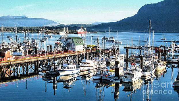 Cowichan Bay Marina  BC by Claudette Bujold-Poirier