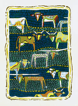 Cows abound by Barbara Lightner