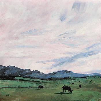 Cows In the Meadow  by Masha Batkova