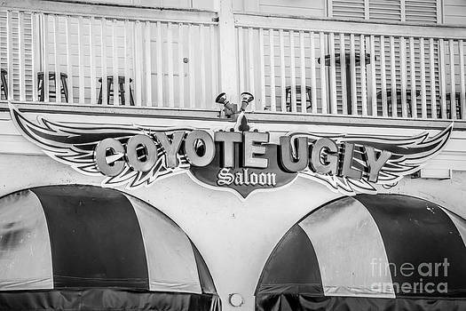 Ian Monk - Coyote Ugly Key West - Black and White