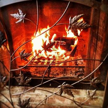 Cozy Nap By The #fire by Diego De Leon