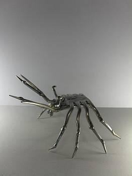 Crabe etrille  by Dalu sculpteur Anticonformiste