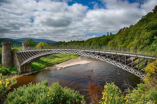 Craigellachie Bridge over the River Spey by David Pilasky