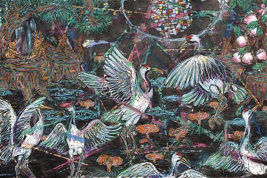 Cranes by Yemi Kim