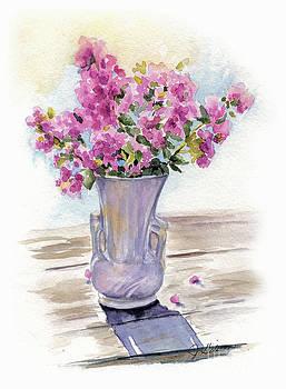 Crape Myrtle in McCoy Vase by Jan Gibson