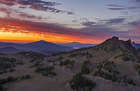Crater Lake National Park Sunset by Spencer Bodian
