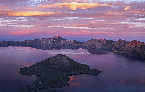 Crater Lake Sunset by Spencer Bodian