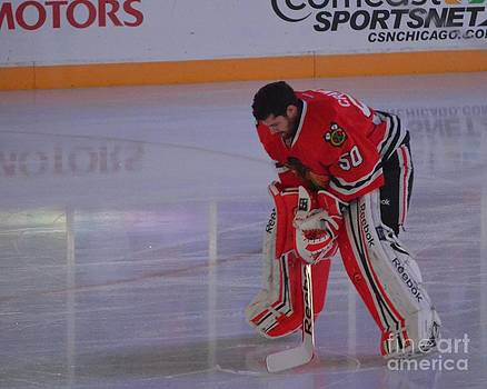 Crawford During the Anthem by Melissa Goodrich