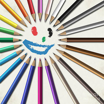 Crayons Sun by Sandra Hoefer