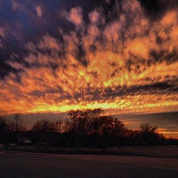 Crazy Sunset On 18 Tonight... Winter by Michael Sitzman