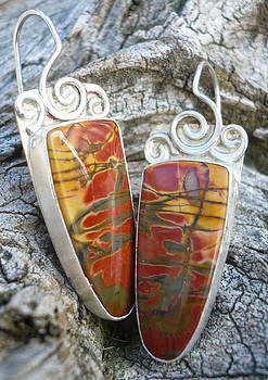Creek Jasper Earrings by Arianna Bara