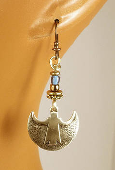 Crescent Goddess Earrings by Vagabond Folk Art - Virginia Vivier
