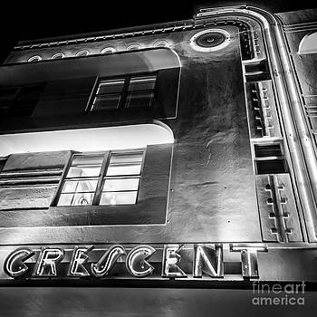 Ian Monk - Crescent Hotel Art Deco District SOBE MiamI - Square - Black and White