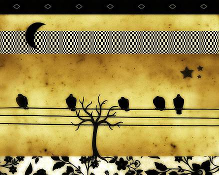 Gothicrow Images - Crescent Moon And Birds