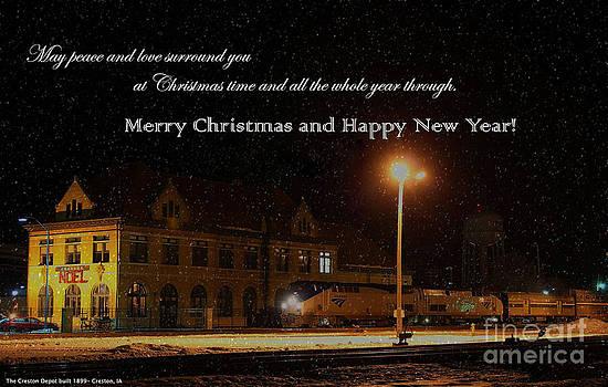 Creston Iowa Christmas Card by Thomas Danilovich