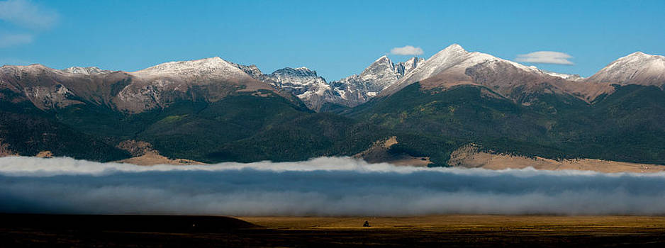 Crestones with first snow by Shanna Lewis