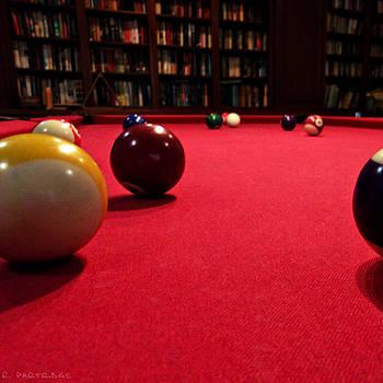 Crimson Billiard Table by Robert Partridge