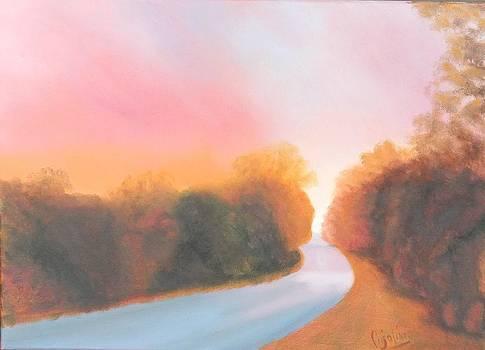 Crimson Sunset by Gloria Cigolini-DePietro