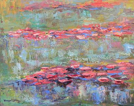 Crimson Water-Lilies by Nancy LaMay