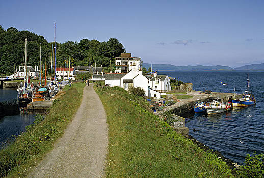 Crinan canal and Sound of Jura Scotland by David Davies