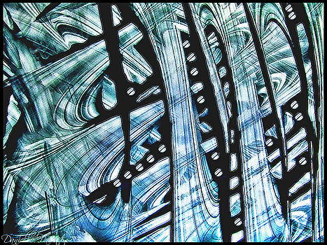 Criss Cross Lines Abstract Alcohol Inks by Danielle  Parent