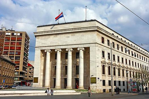 Croatian national bank Zagreb by Borislav Marinic