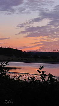 Sandy Rubini - Crockett Lake at Sunrise