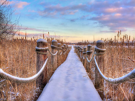 Crooked Lake Boardwalk by Jenny Ellen Photography
