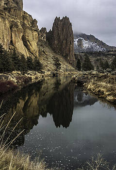 Crooked River Reflection by Curtis Knight