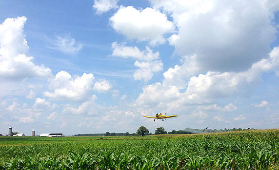 Yellow Crop Duster by Charles Kraus
