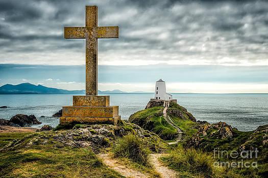 Adrian Evans - Cross at Llanddwyn Island
