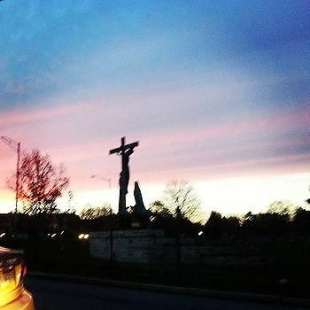#cross #cemetary #sunset by Philip Grant