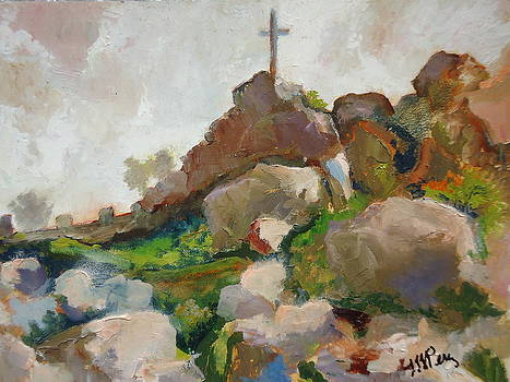 Cross on Mt. Rubidoux by Luz Perez
