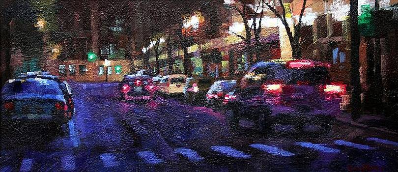 Cross Walk Nocturne by Don  Reed
