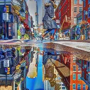 Crossing 18th Street In #philadelphia by Stacey Lewis