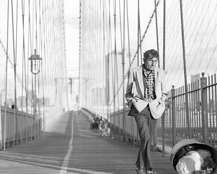 Crossing Brooklyn Bridge by Dave Beckerman