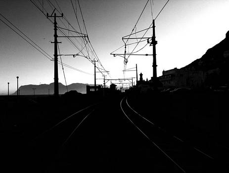 Crossing the tracks by Sky Cope