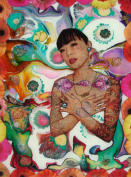 ArtWaters.com Colorful Woman by Daniel Bohnett