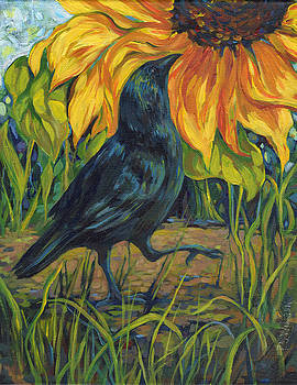 Peggy Wilson - Crow and Sunflower II