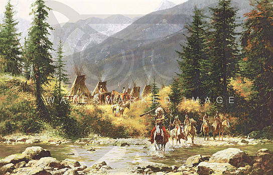 Crow Country by Howard Terpning