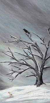 Crow in Tree by Jesslyn Fraser
