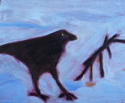 Crow on Ice by Molly Fisk