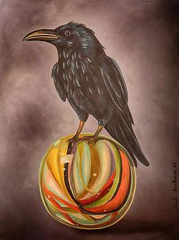 Leah Saulnier The Painting Maniac - Crow On Marble edit 3