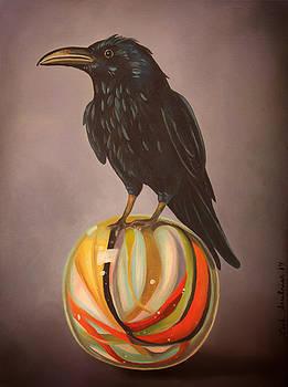 Leah Saulnier The Painting Maniac - Crow On Marble edit 4