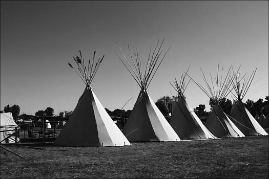 Crow Teepee's by Big Horn  Photography
