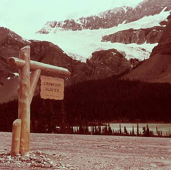 Linda Rae Cuthbertson - Crowfoot Glacier Banff National Park Canada Vintage 1960