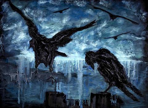 Crows by Renee Sarasvati