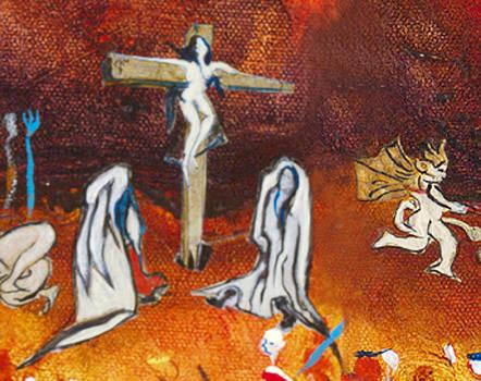 Crucifiee by Bernard RENOT